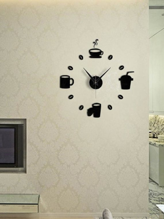 DIY-Modern-Home-Decoration-Large-Coffee-Cup-Decal-Kitchen-Wall-Clocks-Silent-Watch-Decals-Black-