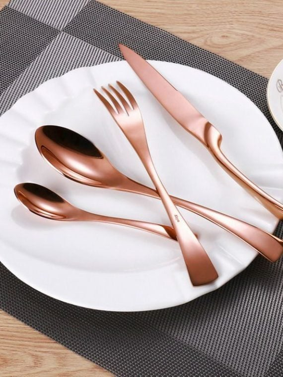 rose gold cutlery set