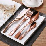 rose gold cutlery set