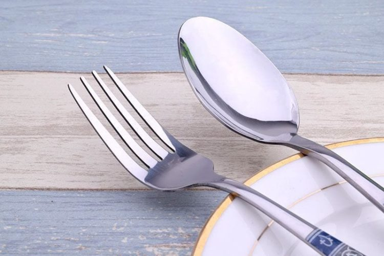 Luxury Stainless Steel Floral Cutlery 24 Piece Set