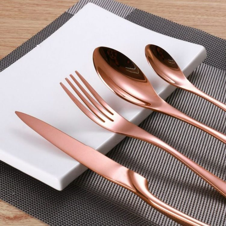 Luxury Rose Gold Flatware Set