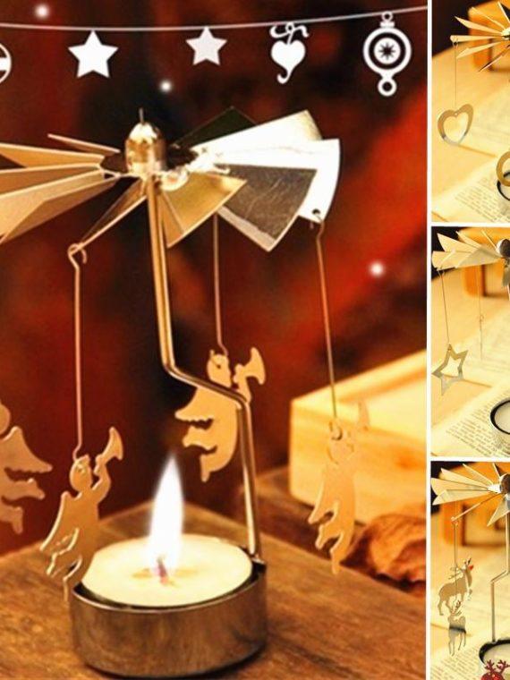 Romantic-Rotating-Tea-Light-Candle-Holder-Table-Christmas-Decor-Xmas-Angel