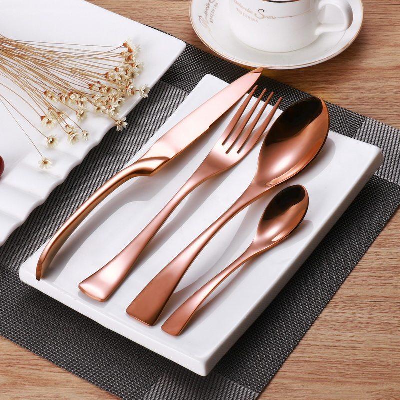 rose gold flatware set