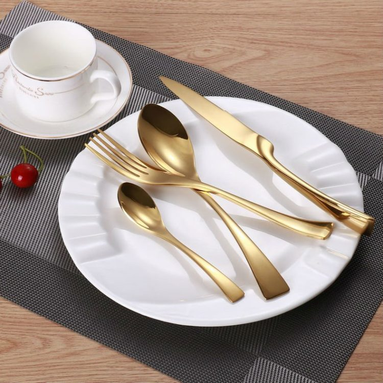 Luxury Gold 24 Piece Flatware Set
