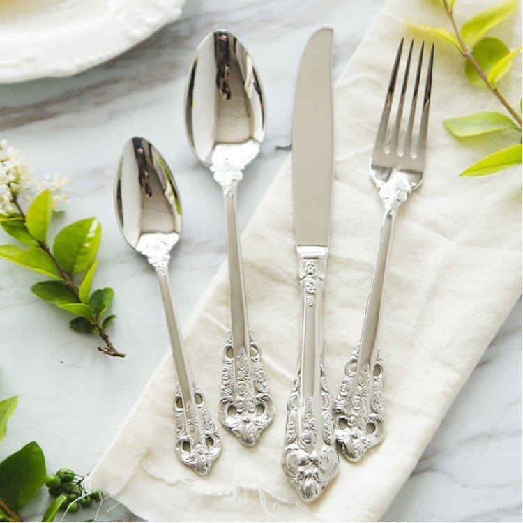 Royal Silver Plated English Cutlery 24 Piece Set