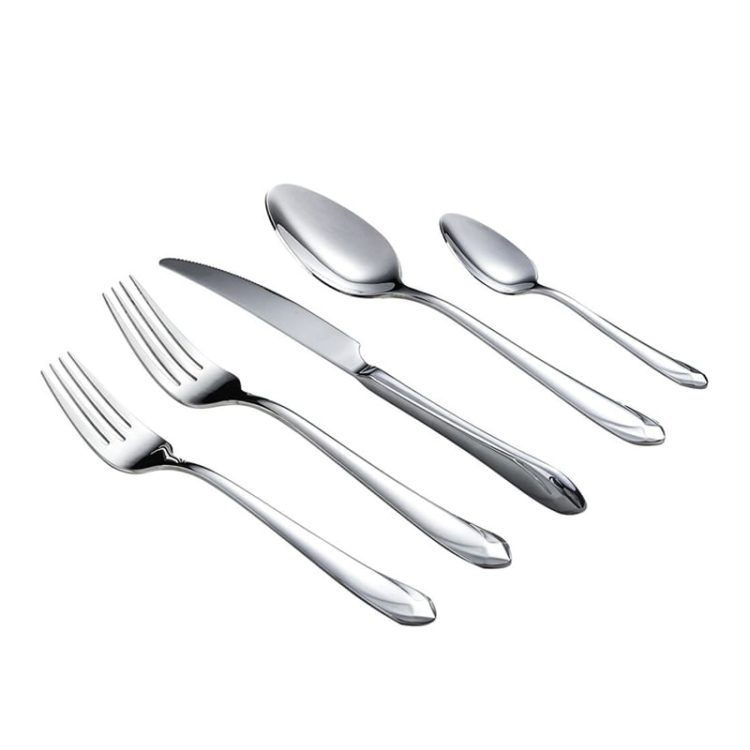 Hessel® Mirror Polished 20 Piece Silver Flatware Set