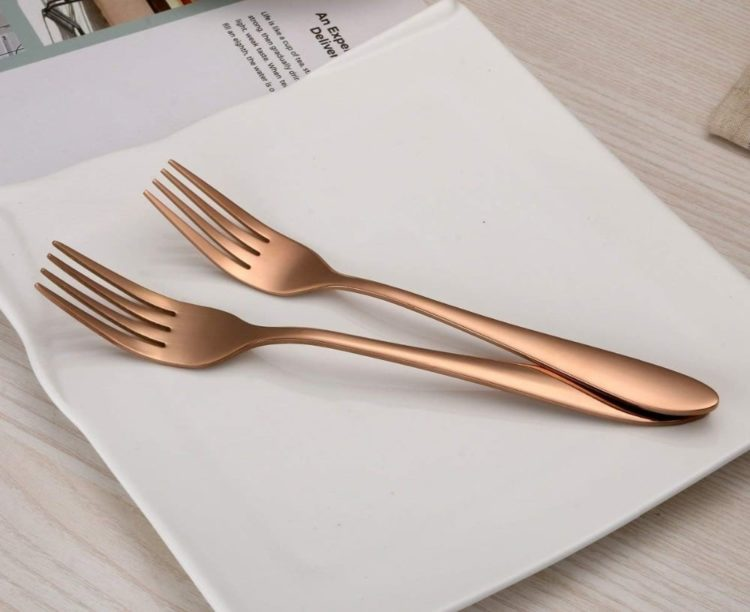 CLASSIK® Mirror Polished 30 Piece Rose Gold Flatware Set