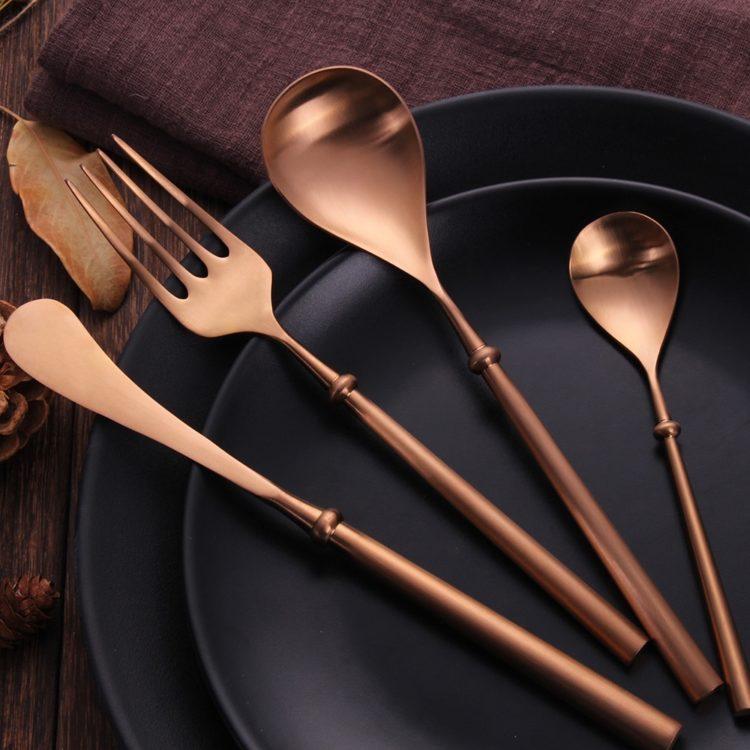 KUBAC® Rose Gold Flatware Set - 24 Piece