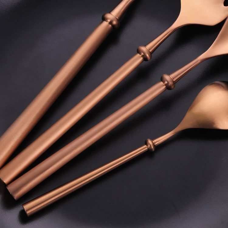 KUBAC® Rose Gold Flatware Set - 24 Piece