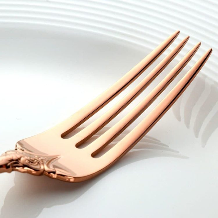 Royal Rose Gold Plated English Cutlery Set