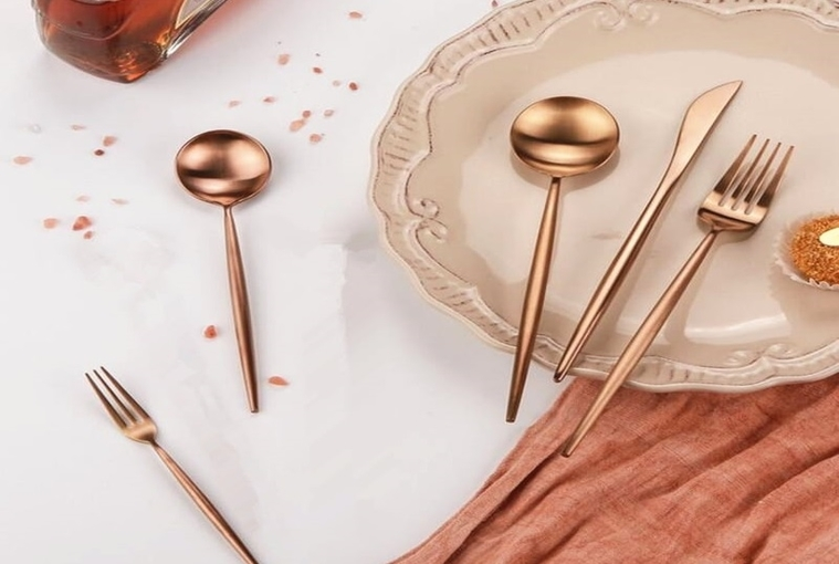 New Rose Gold Flatware