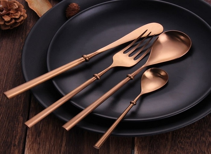 Unique Rose Gold Flatware
